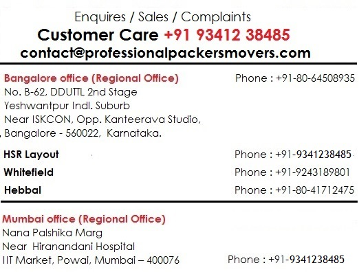 Professional Packers and Movers, Professional packers Banglore, Movers packers